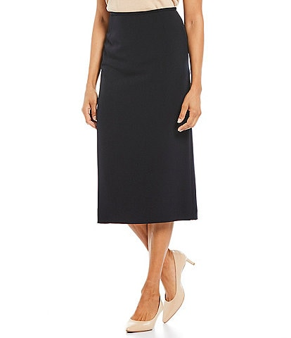 Preston & York Taylor Stretch Crepe Suiting Midi Pencil Skirt
