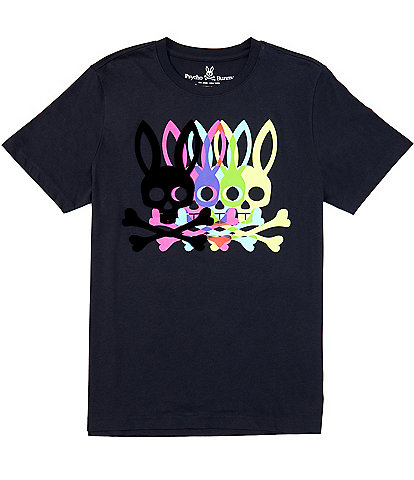 Psycho Bradley Multi-Logo Short-Sleeve Graphic Tee
