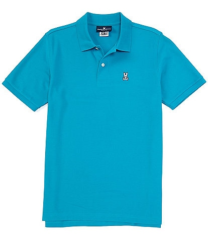 Psycho Bunny Classic Short-Sleeve Solid Polo Shirt