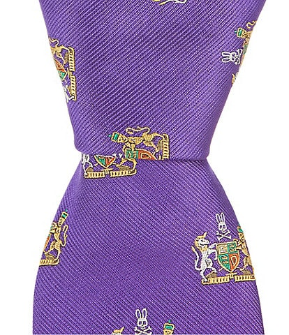 Psycho Bunny Crest Traditional 3.25#double; Silk Tie