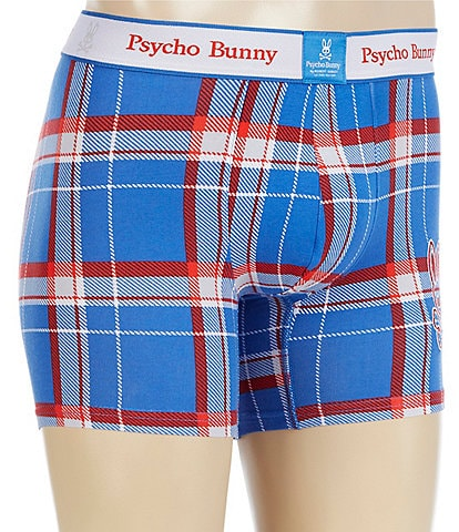 Psycho Bunny Rockport Plaid Knit Boxer Briefs