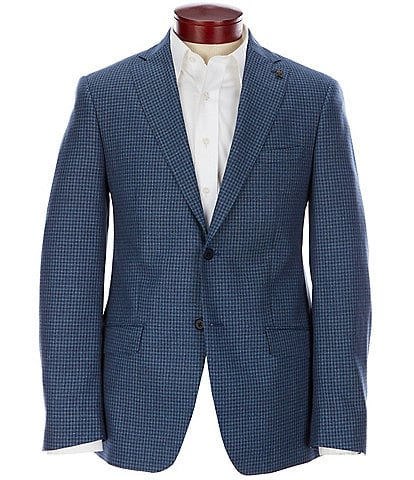 Psycho Bunny Slim Fit Checked Wool Blend Sportcoat