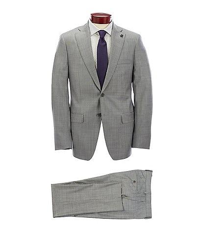 Psycho Bunny Slim Fit Solid Grey Wool Suit