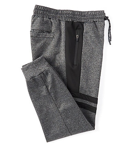 PX Clothing Pieced-Striped Jogger Pants