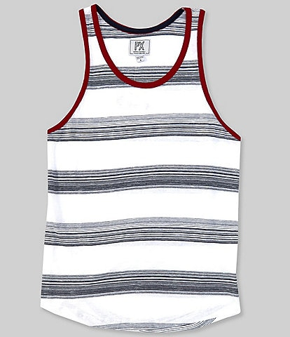 PX Clothing Sleeveless Horizontal Stripe Tank