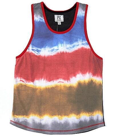PX Clothing Sleeveless Tie-Dye Rib Tank