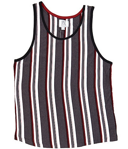 PX Clothing Sleeveless Vertical Stripe Tank Top