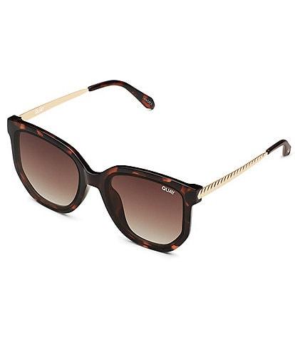 Quay Australia Coffee Run Oversized Round Cat Eye Sunglasses