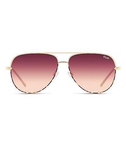 Quay Australia High Key Aviator Sunglasses