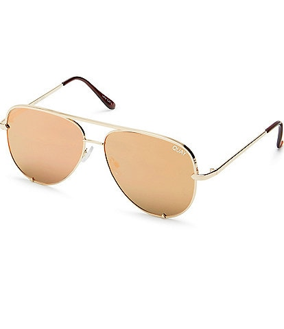 Quay Australia #QUAYXDESI High Key Mirrored Aviator Sunglasses