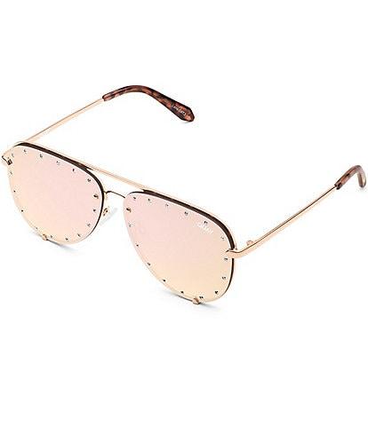 Quay Australia High Key Rhinestone Oversized 55mm Sunglasses