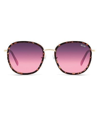 Quay Australia Jezabell Inlay Round Sunglasses