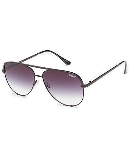 Quay Australia High Key Mini Mirrored Aviator Sunglasses