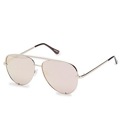 Quay Australia #QUAYXDESI High Key Mini Mirrored Aviator Sunglasses