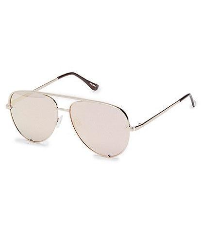 Quay Australia High Key Mini Mirrored Aviator Sunglasses