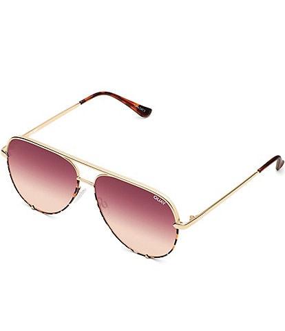 Quay Australia High Key Mini Rimless Aviator Sunglasses