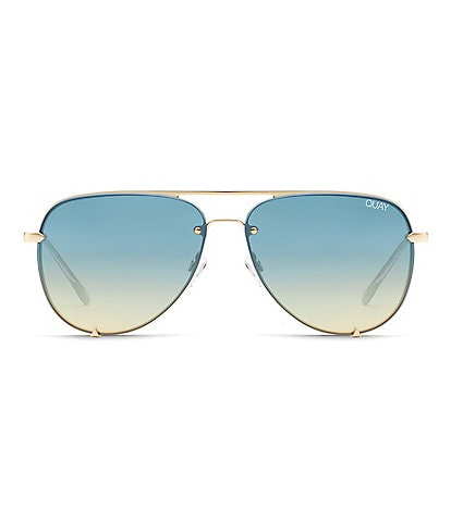 Quay Australia #QUAYXDESI High Key Mini Rimless Aviator Sunglasses