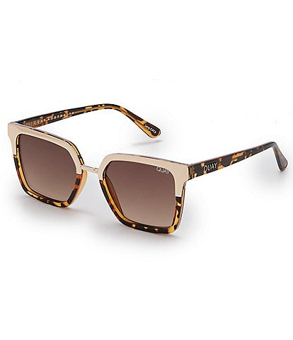 Quay Australia #QUAYXJACLYN Upgrade Colorblock Square Sunglasses
