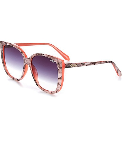 Quay Australia Ever After Oversized Rounded Square Sunglasses