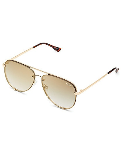 Quay Australia High Key Rimless Aviator Sunglasses