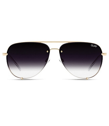 Quay #QUAYXDESI High Key Rimless Aviator Sunglasses