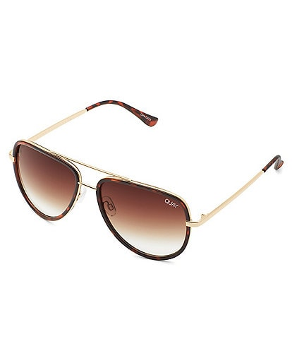 Quay Australia All In Aviator Tortoise Sunglasses