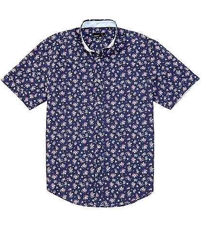 Quieti Floral Print Long-Sleeve Woven Shirt