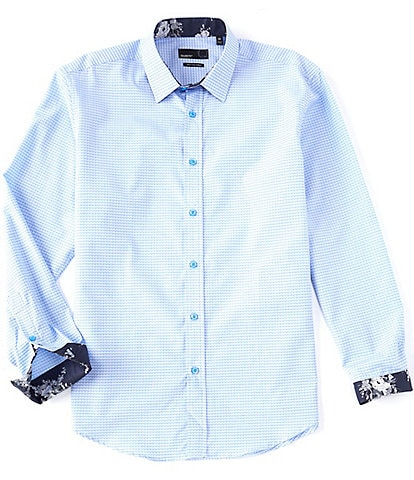 Quieti Geo Dobby Long-Sleeve Woven Shirt