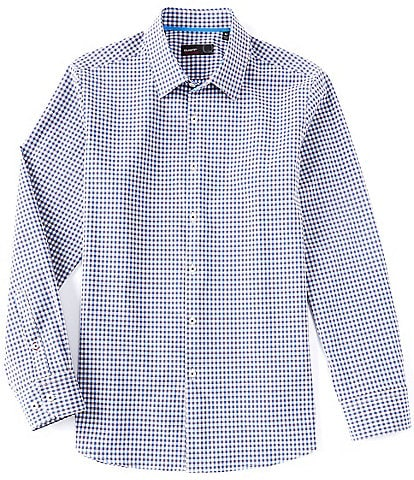 Quieti Non-Iron Dobby Check Performance Stretch Long-Sleeve Woven Shirt