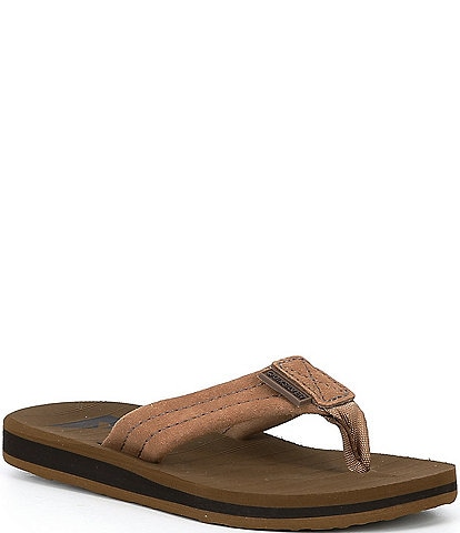 Quiksilver Boys' Carver Suede Flip Flops Youth