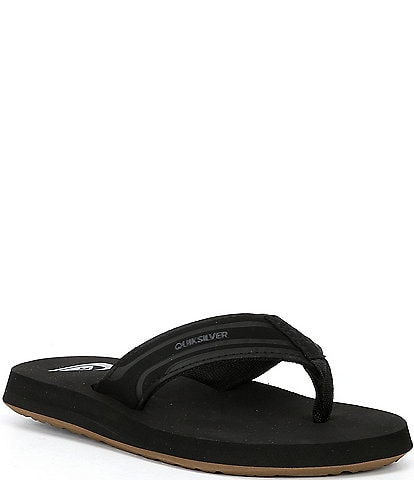 Quiksilver Boys' Monkey Wrench Suede Flip Flops (Toddler)