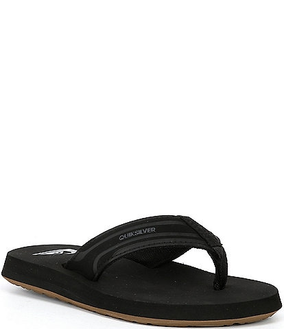Quiksilver Boys' Monkey Wrench Suede Flip Flops (Youth)