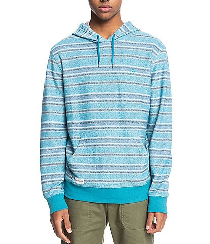 Quiksilver Great Otway Long-Sleeve Striped Terry Cloth Hoodie