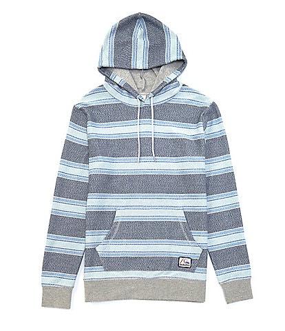 Quiksilver Great Otway Striped French Terry Long-Sleeve Pullover Hoodie
