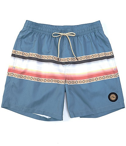 Quiksilver Sun Faded 17#double; Outseam Volley Shorts