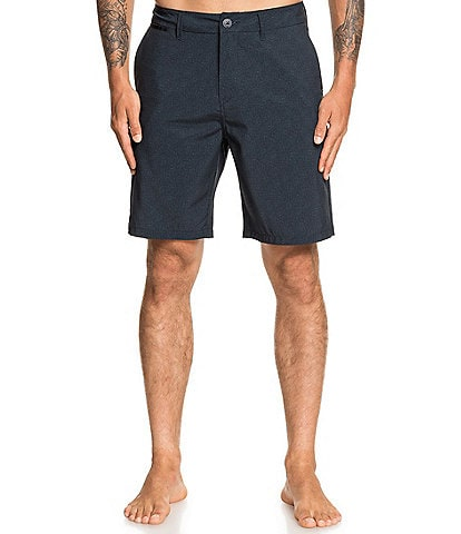 Quiksilver Union Heather Amphibian 20#double; Outseam REPREVE® Recycled Materials Hybrid Shorts