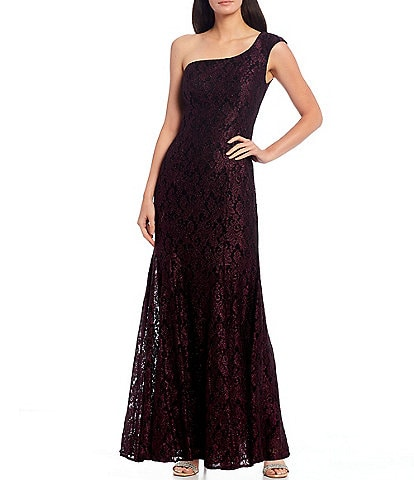 R & M Richards One Should Glitter Lace Mermaid Gown