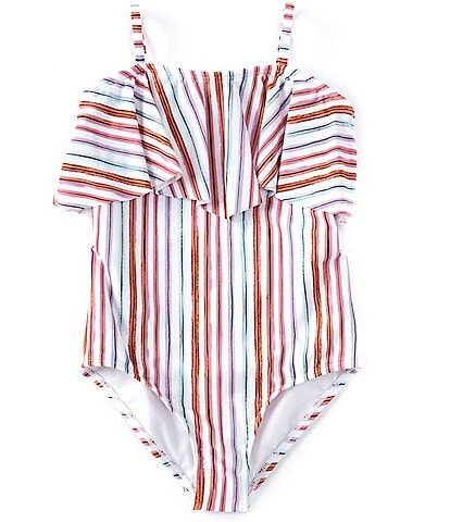 Raisins Big Girls 7-16 La Playa Stripe One-Piece Swimsuit