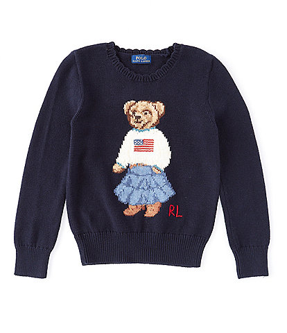 Ralph by Ralph Lauren Big Girls 7-16 Polo Bear Flag Sweater