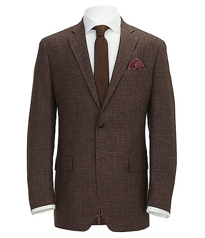 Ralph By Ralph Lauren Black/Purple Classic Fit Houndstooth Sportcoat