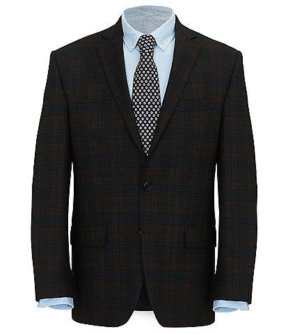Ralph By Ralph Lauren Classic Fit Burgundy/Navy Plaid Sportcoat