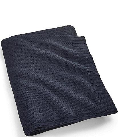 Ralph Lauren Ariel Knit Cotton Bed Blanket