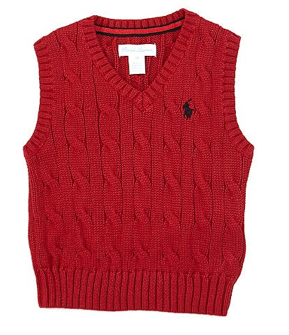 Ralph Lauren Baby Boys 3-24 Months Cable-Knit Sweater Vest