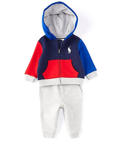 Ralph Lauren Baby Boys 3-24 Months Colorblock Fleece Hoodie & Jogger Set