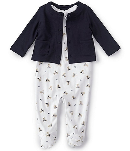 Ralph Lauren Baby Boys 3-9 Months Polo Bear 3-Piece Layette Set
