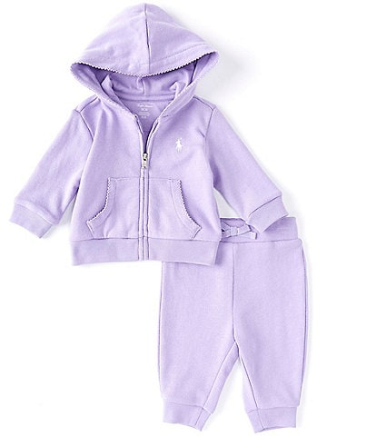 Ralph Lauren Baby Girls 3-24 Months Athletic Terry Fleece Hoodie & Pant Set