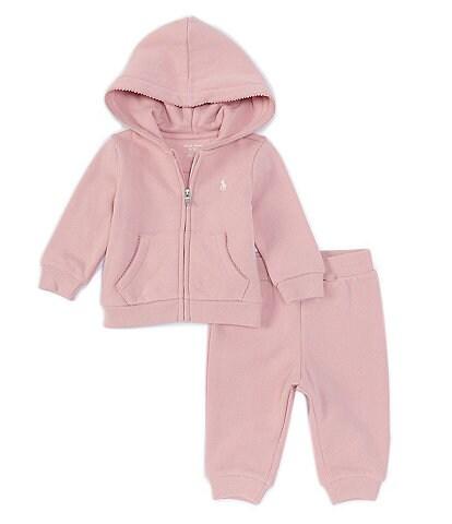 Ralph Lauren Baby Girls 3-24 Months Fleece Zip-Up Hoodie & Jogger Pants Set