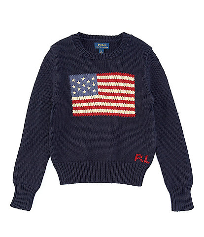 Polo Ralph Lauren Big Girls 7-16 America Flag Sweater