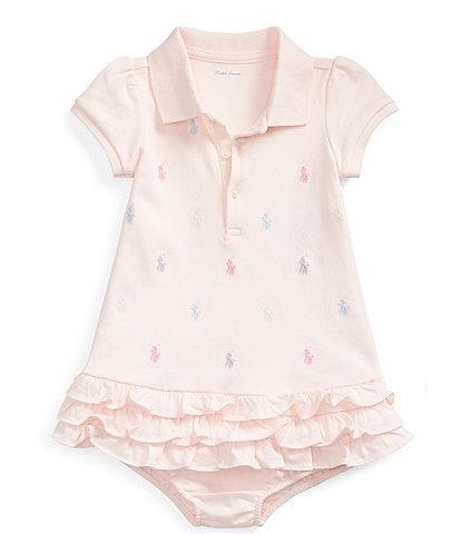 Ralph Lauren Childrenswear Baby Girls 3-24 Months Schiffli Embroidered Polo Dress