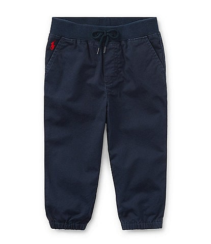 Ralph Lauren Childrenswear Baby Boys 3-24 Months Flat-Front Elastic Hem Pull-On Pants